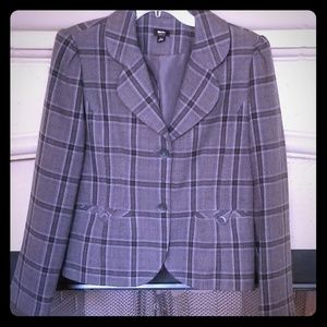 BOGO!💜 Mossimo Grey/Purple Plaid Blazer